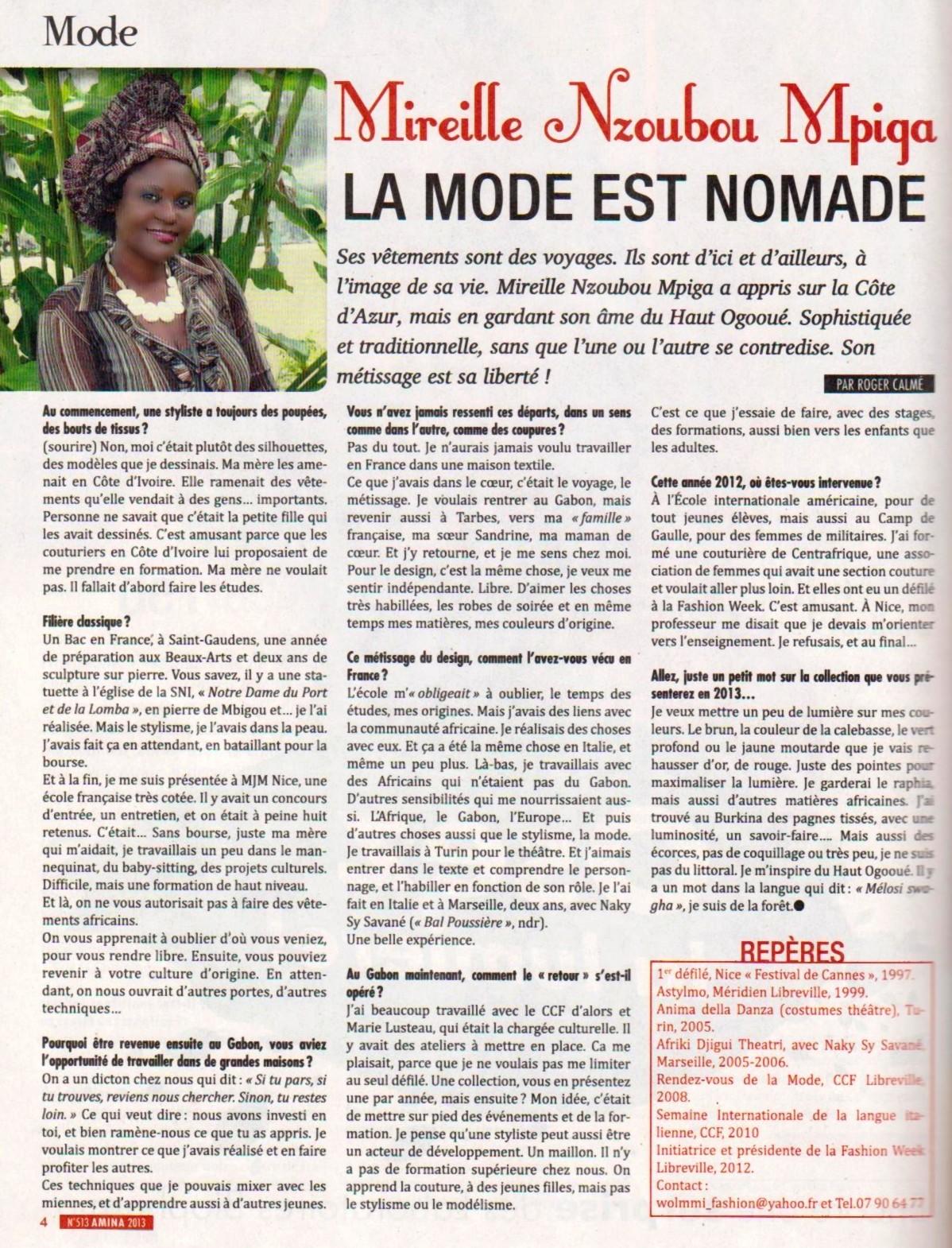 Article Amina 2013