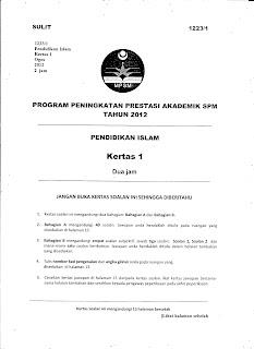 PERCUBAAN SPM KEDAH PENDIDIKAN ISLAM 2012 KERTAS 1