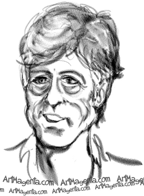 Robert Redford caricature cartoon. Portrait drawing by caricaturist Artmagenta