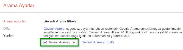 google-güvenli-arama