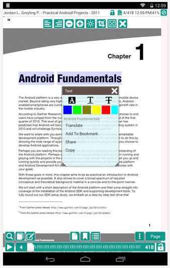 Ứng dụng đọc file PDF miễn phí trên Android PDF Reader