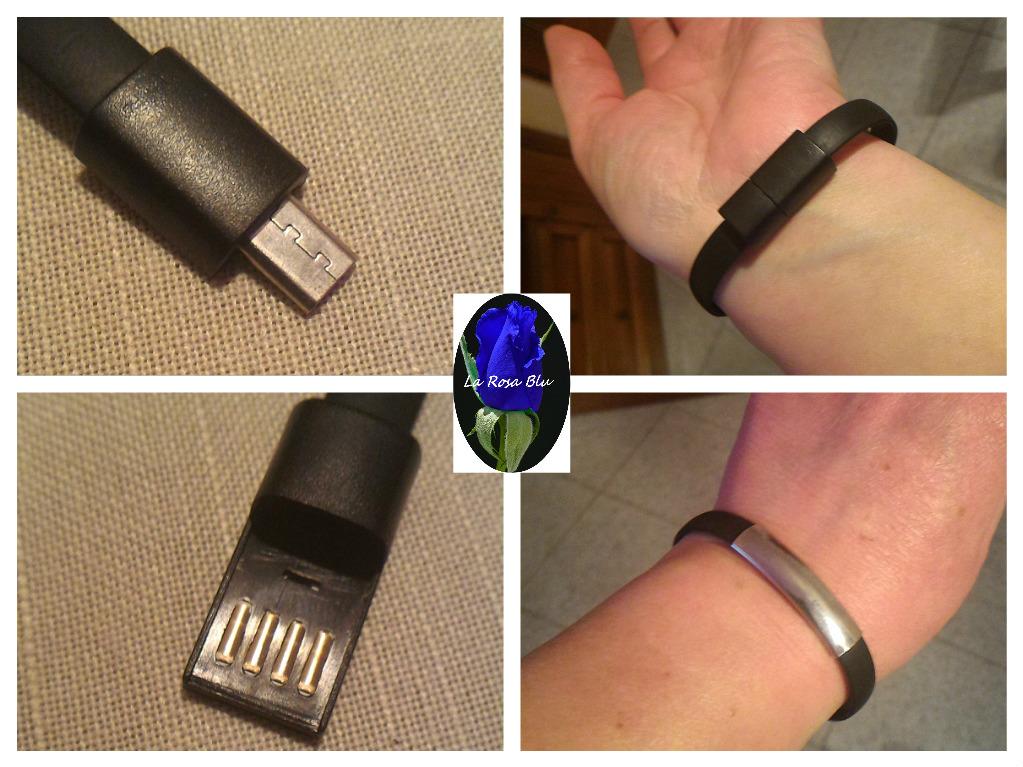 BRACCIALETTO CON CAVO USB OKCS