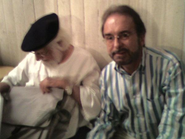 Con el poeta, escritor y catolico. Ernesto Cardenal