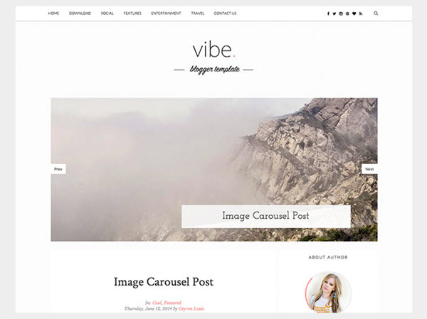 Vibe Personal Blogger Template