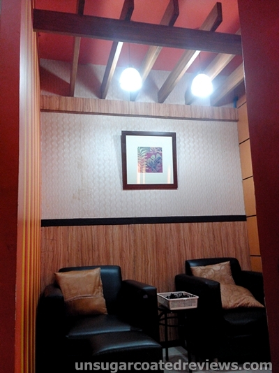 interiors of Orange Blush Salon Mother Ignacia branch