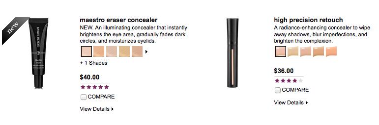 BirkinBagBeauty: Armani Cosmetics concealer: of Old and New