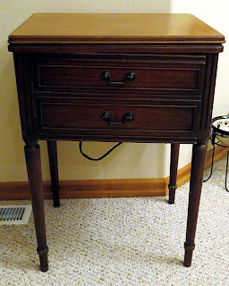 Free-Westinghouse vintage sewing machine cabinet