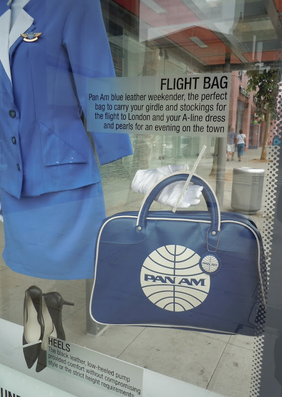 Pan Am bus shelter flight bag