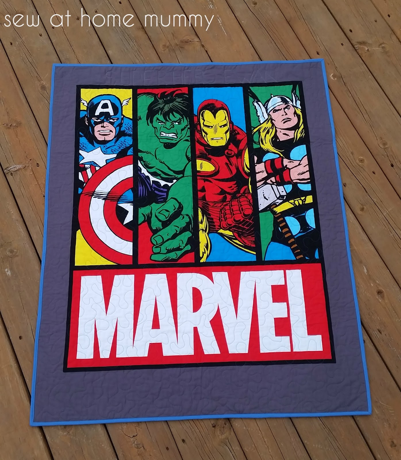 Sew at Home Mummy: TGIFF: Super Heroes and Princesses : marvel quilt - Adamdwight.com