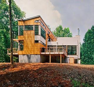 desain sederhana rumah bambu