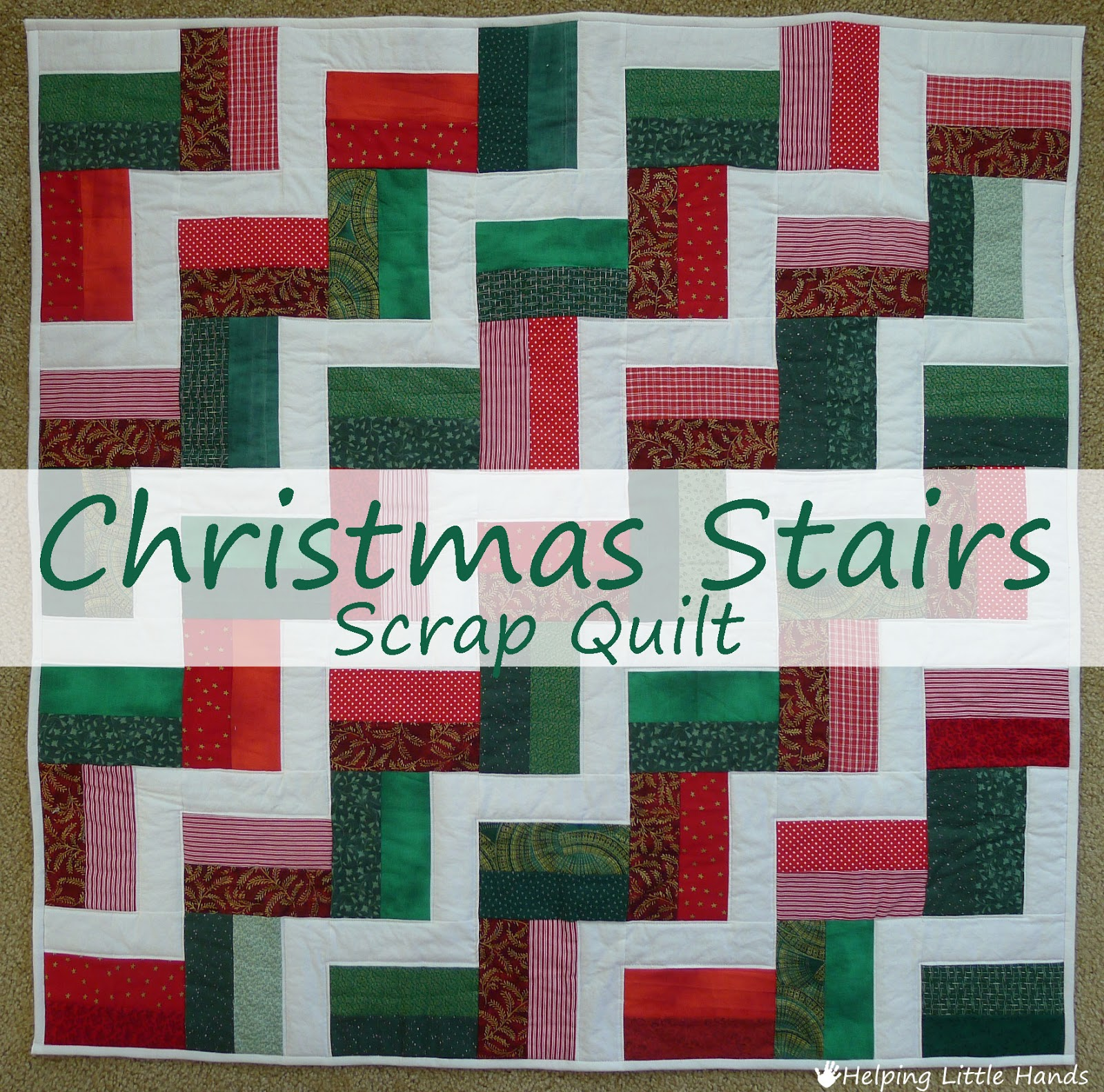 Pieces by Polly: Christmas Stairs Scrap Quilt