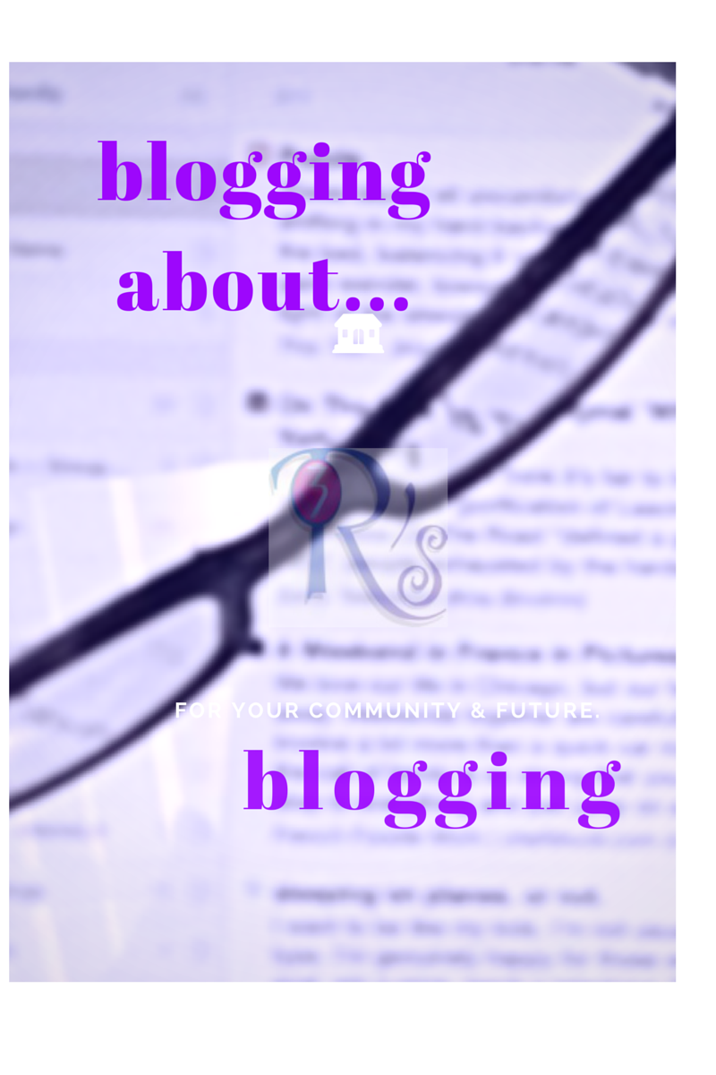 Blogging About Blogging link roundup/discussion at The 3 R's Blog