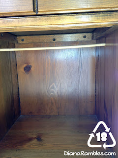 Nightstand into Doll Closet put in dowel
