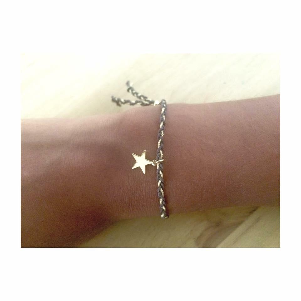 Le bracelet tressé bicolore