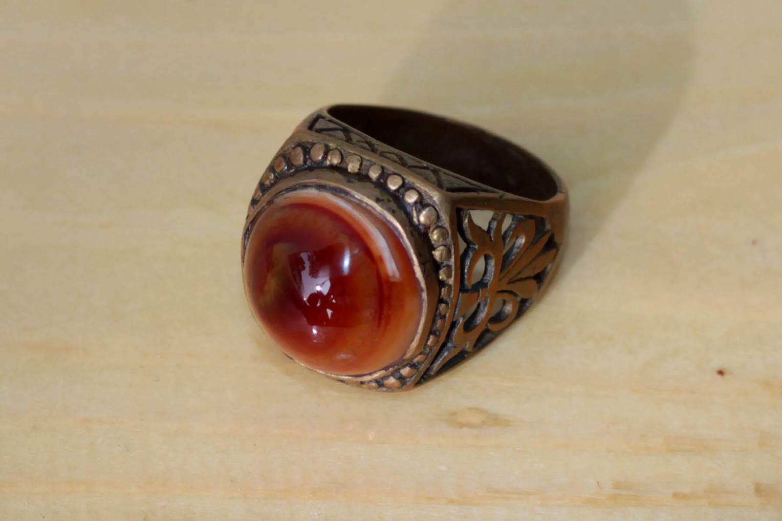 Batu Cincin Agate, Akik Madu, Tiger Eye, Akik Manau 100% Natural - No ...