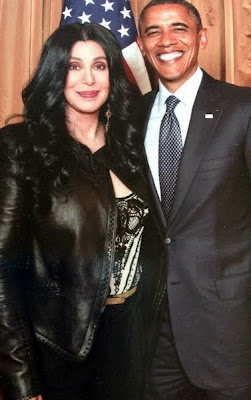 Cher and Brack Obama