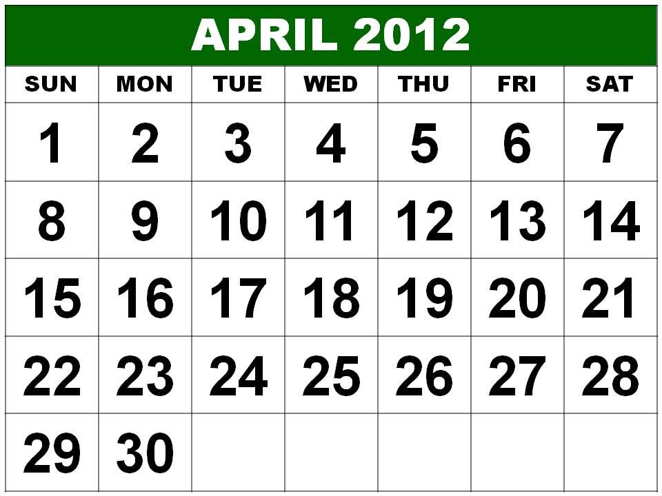 calendar 2012 april. January+calendar+2012