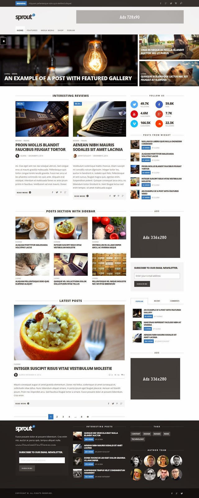 Premium News Magazine Responsive Theme 2015
