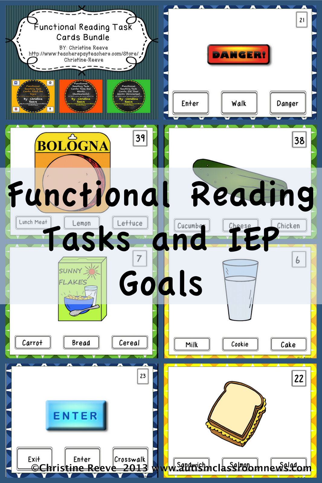 Printables Functional Reading Worksheets functional reading tasks and iep goals autism classroom resources goals