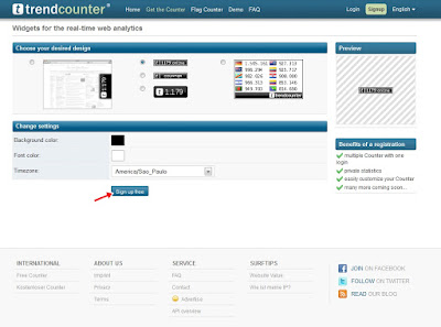 Trendcounter - Personalizando widget