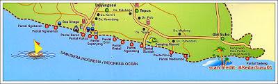 peta pantai gunungkidul