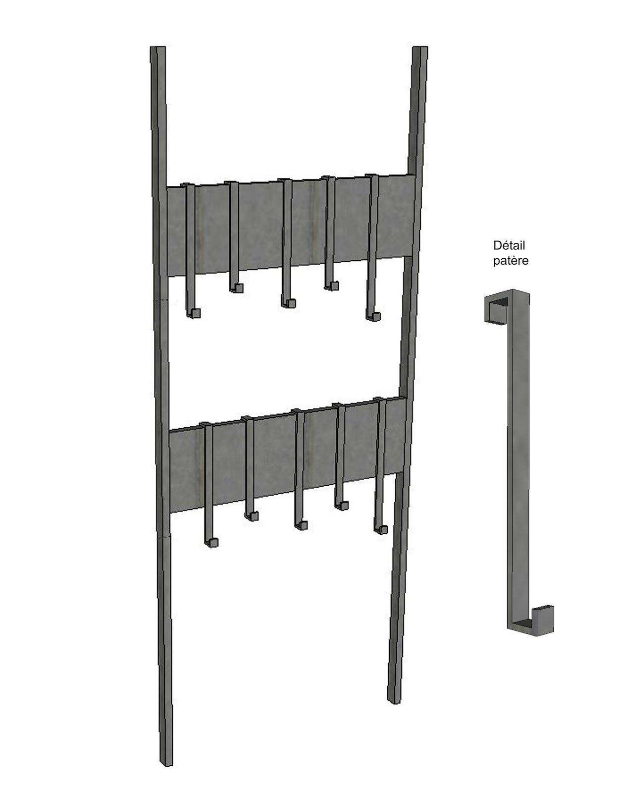 ferronnerie m tallerie serrurerie 79 deux s vres l 39 art du fer play porte manteau acier. Black Bedroom Furniture Sets. Home Design Ideas