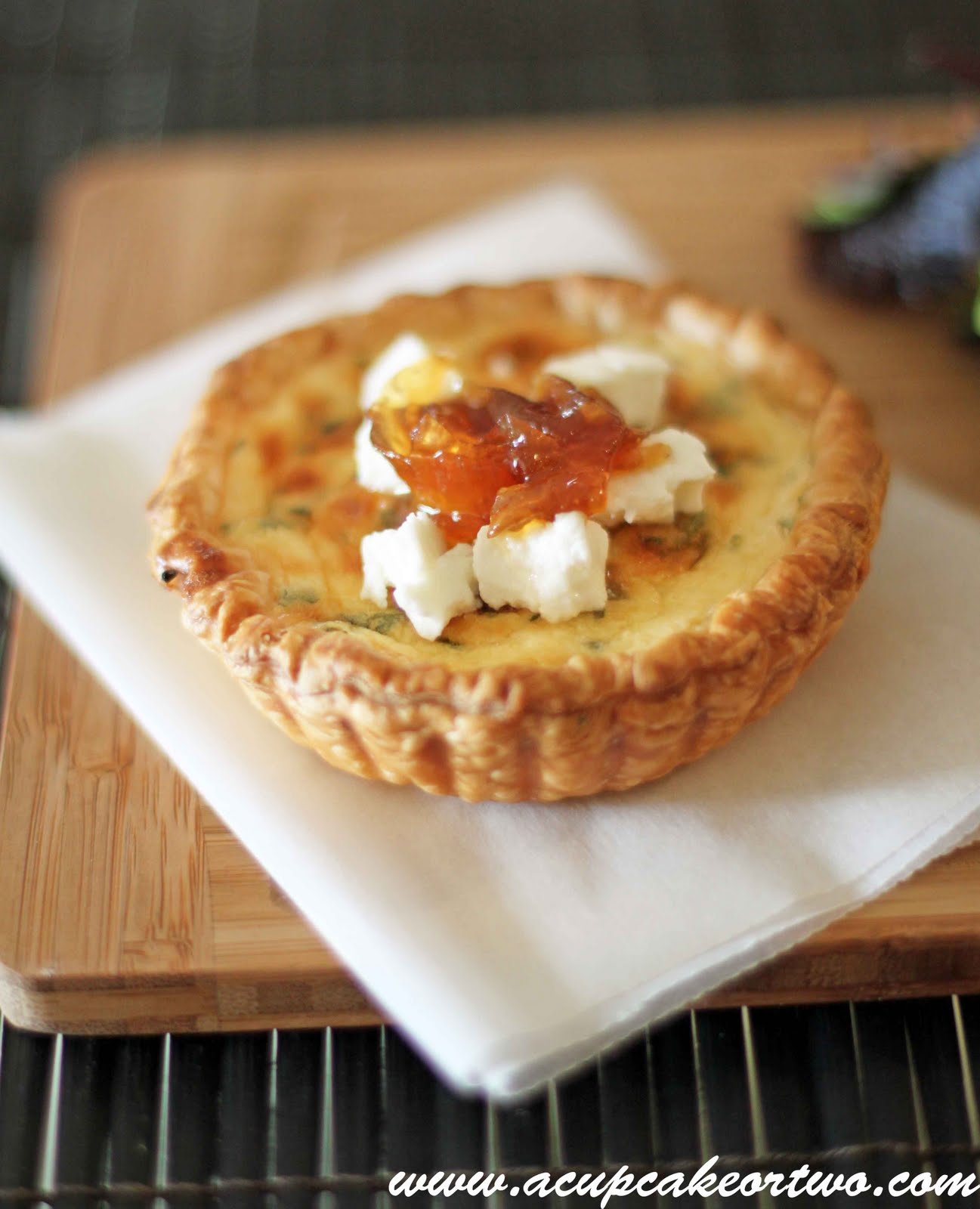 ... about anything. These Goat's cheese tarts are simple and moreish