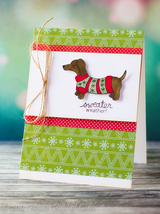 Sweather Weather Doxie Dog card with Guest Designer Heather Hoffman | Newton's Nook Designs