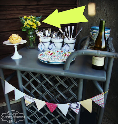 Patio Cart Redo - Orchardgirls.blogspot.com