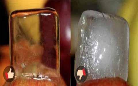 Cara Membedakan Es Batu dari Air Mentah dan Air Matang