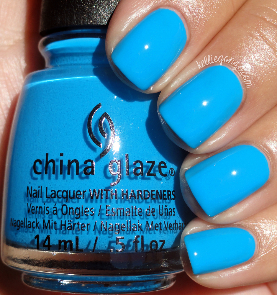 Neon Blue Nail Polish China Glaze
