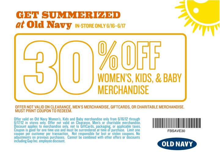image about Old Navy Printable Coupon named Previous military services 30 off printable coupon june 2018 : Truth defiance