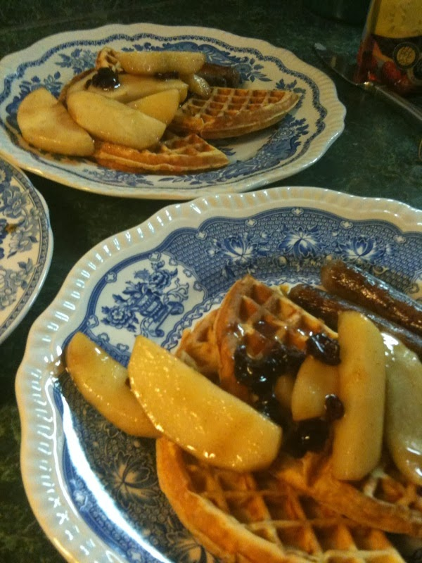 Featured Seasonal Treat: Rosemary Sweet Potato Waffles!