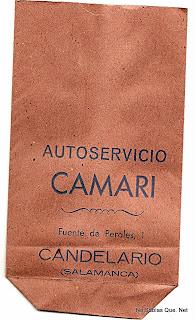 bolsa de papel antigua del super de Candelario Salamanca