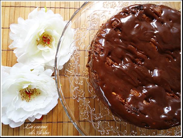 Bizcocho de espelta con manzana y chocolate