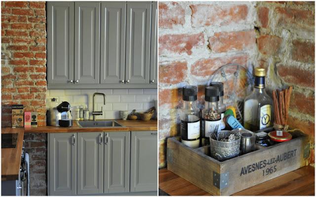 Kjøkkeninnredning i grått, Lindingø fra Ikea .