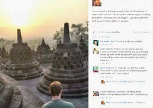mark facebook di candi borobudur