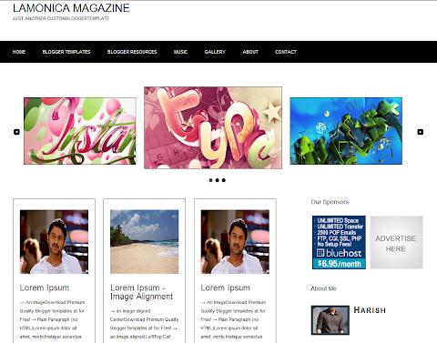 Lamonica Blogger Theme