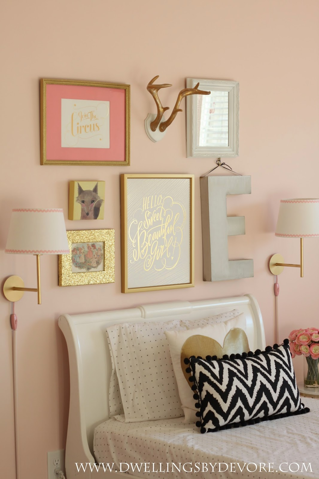 Pink paint color for girls room