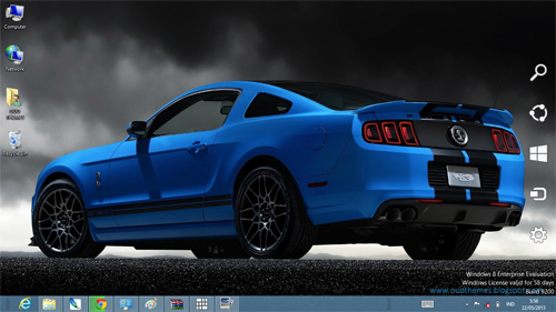 Ford Mustang Shelby GT500 2013 Theme For Windows 7 And 8
