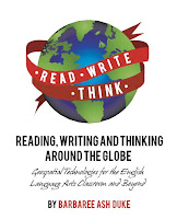 book cover image for reading, writing and thinking around the globe