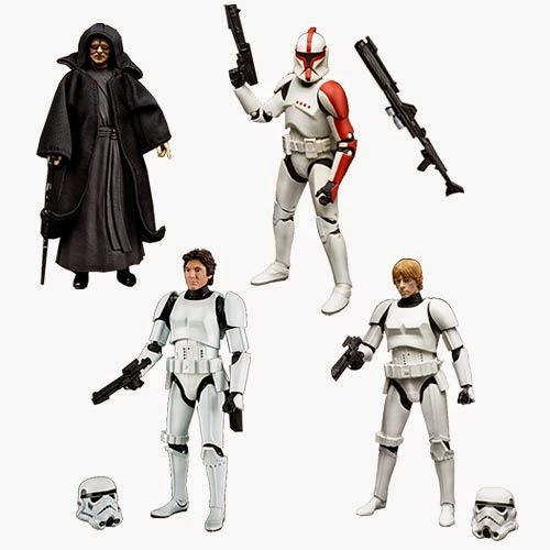 "Star Wars Black Series Wave 8 6"" Action Figures – Emperor Palpatine, Luke Skywalker in Stormtrooper Gear, Han Solo in Stormtrooper Gear & Clone Trooper Captain.jpg"