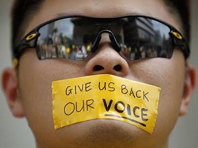 rally in merdeka square kuala lumpur malaysia