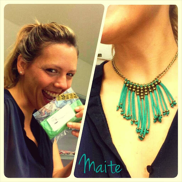 happy uy collares antelina verde tribal largo flecos dorado moda