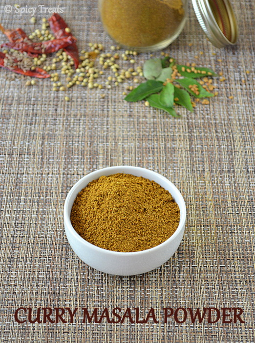 Spicy treats homemade curry masala powder curry masala powder recipe ccuart Choice Image