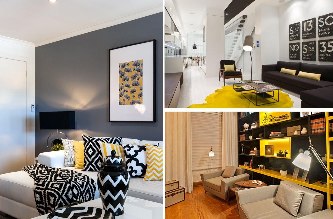 Decorao De Sala Amarelo J Cadeiras Cadeiras Amarelo Na Decorao  -> Decoracao De Sala Pequena Vermelha E Amarela