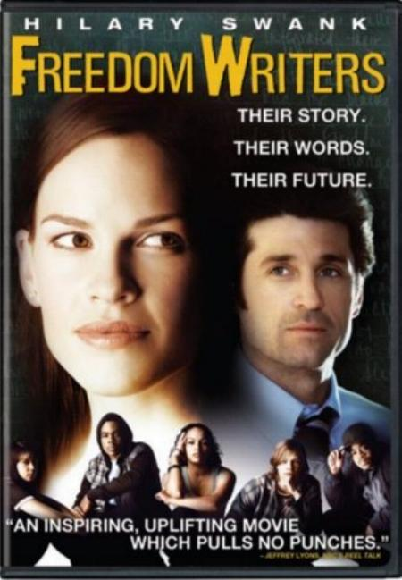 "freedom writers movie review I'll admit that when i saw the schedule for ""freedom writers"" to come out the first week in january, i was a bit worried the uber-inspriational film about a teacher that drags kids out of an at-risk classroom seemed to be primed for awards season."