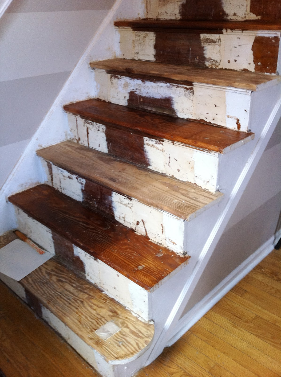 After Several Coats Of Stain It Became Evident That The Runner Area Of The  Stairs Was Staining Way Darker Than The Rest. And That The Stairs Werenu0027t  Close ...