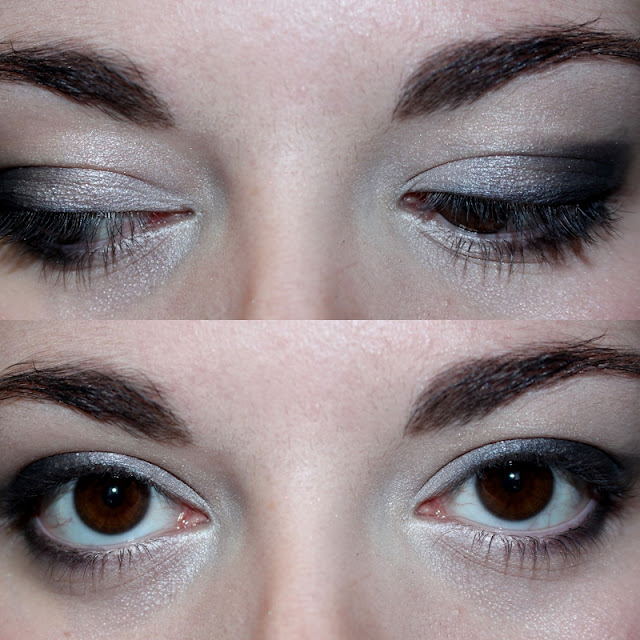 maquillage noir et blanc crayon