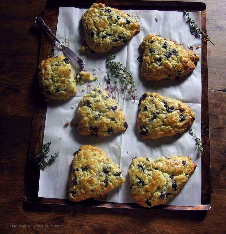 Blueberry White Chocolate + Thyme Scones :: gamine dans la cuisine